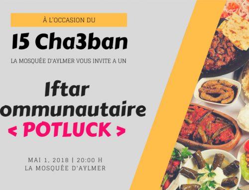 Iftar Communautaire (POTLUCK)