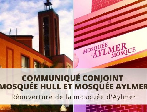 Réouverture de la mosquée d'Aylmer
